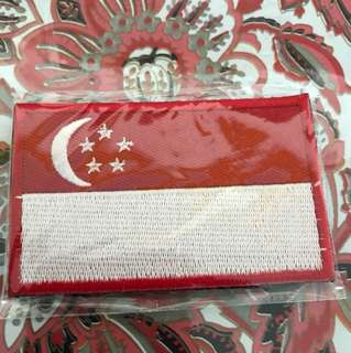 High quality Singapore International Flag Velcro Patch for bag cap shirt jacket etc free postage