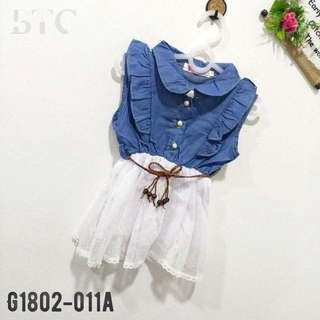 [READY STOCK]  🌸 Denim Tutu Dress