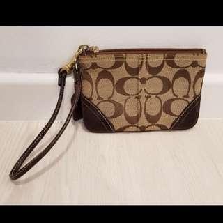 Coach clutch bag brown