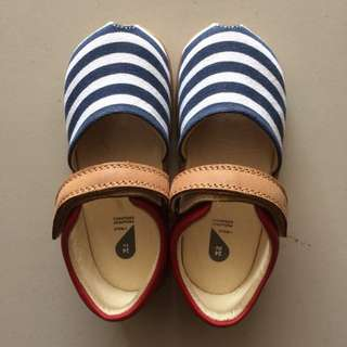 BOBUX Baby Shoe / Children Shoe - Red Navy Twist Sandals (EU24)
