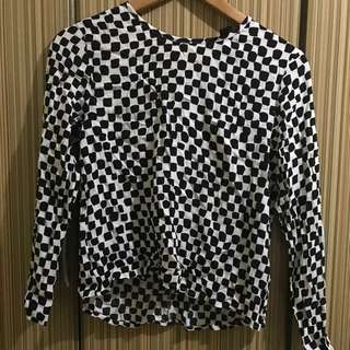 H&M Checkered long sleeve