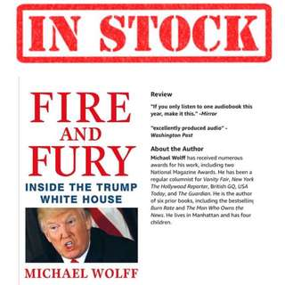 IN STOCK Michael Wolff Fire and Fury: Inside the Trump White House | Hard Cover