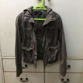 F21 Brown Parka