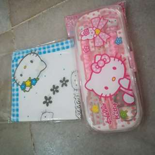 Hello Kitty tableware free handkerchief