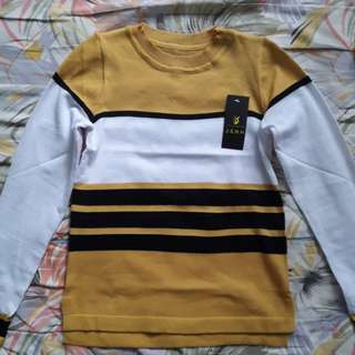 Yellow Knitted Long Sleeves Top