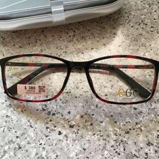 全新 紅黑 Egg 眼鏡框