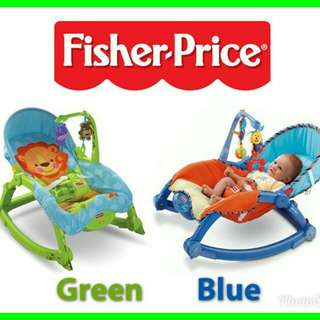 📣RS📣FISHER PRICE GREEN & BLUE ROCKER