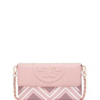 美國專櫃 Tory Burch FLEMING GEO-LEATHER CLUTCH 手袋