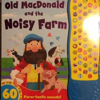 ❤️🈹Old McDonald and the noisy farm 發聲動物農場書