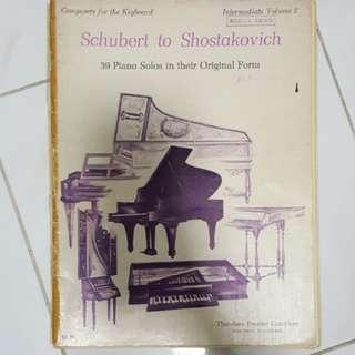 Schubert to Shostakovich piano book