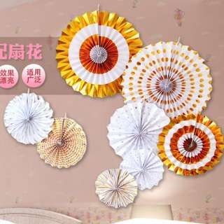 Gold Color fan for party