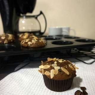 Coffee Almond Muffins