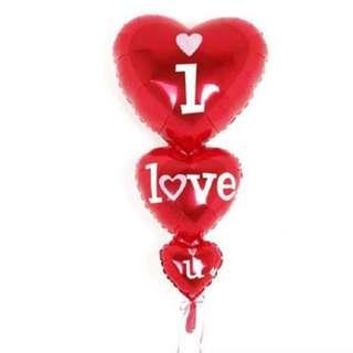 I love you valentine day balloon