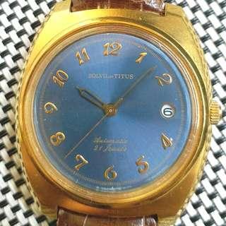 瑞士鐵達時中古錶,原裝面,無番寫,寶璣字體,21石日製自動機芯,已抹油,行走精神,錶頭36mm不連錶的,代用皮錶帶,淨錶$850,有意請pm