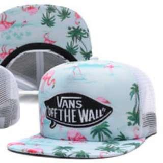 購自韓國 成人款 全新 Vans 粉藍色 鳥兒椰樹 棒球帽 CAP Size: 58cm