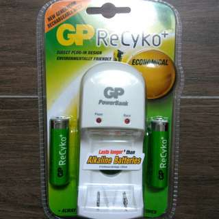 BN GP ReCyko+ Rechargeable Battery + Charger