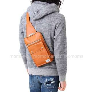 porter仿皮斜咩袋iPad mini 4 one shoulder bag單肩後背包campus pack電單車bicycle bike chest淺黃褐色 Camel