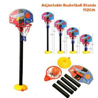 FREE POS Ready Stock Adjustable Basketball Stand Game Set With Ball Manual Pump