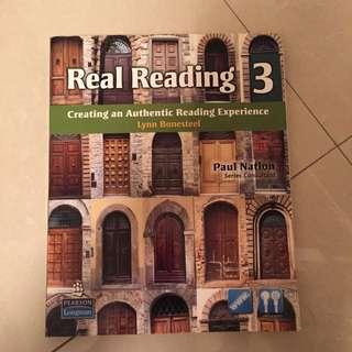 🚚 大學實用英文用書 Real Reading 3 大學用書 英文