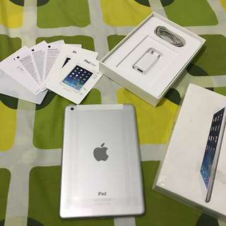iPad Mini 1 Wifi Cell 4g Silver Ex resmi iBox 16gb