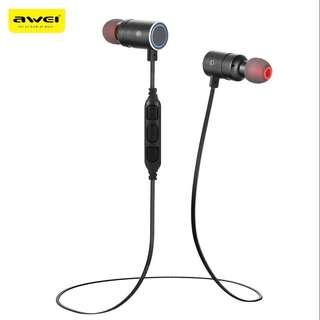 Awei AK8 Magnet Control Sports Bluetooth Headset Earpiece Headphone