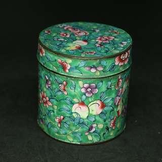 (保真系列)清代外銷景泰藍罐