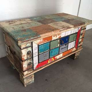Teakwood Trunk Converted To Coffee Table