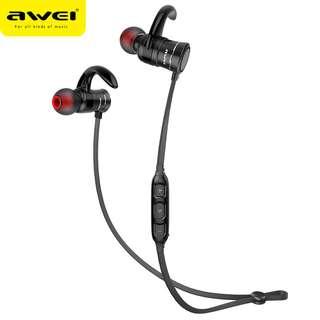 Awei AK5 Bluetooth Wireless Magnet Stereo Headset Earpiece Headphone