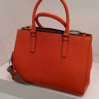 英國 Anya Hindmarch: Ebury Soft Large 橙色皮袋