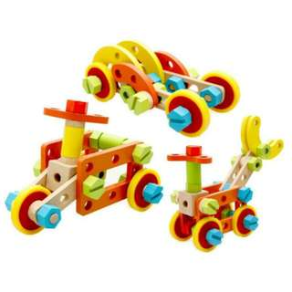 FREE POS Ready Stock Early Learning Wooden Mechanical Fittings Educational