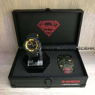 """全新現貨 Casio G shock X DC 電影正義聯盟系列 D.C. Comics """"Justice League"""" GA-700 Superman 超人 限量套裝紀念版連英雄藍牙滑鼠"""