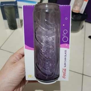 Coca cola slim can glass limited edition McDonalds 2017 - ungu / purple