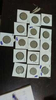 Old Coins 50sen 1979. Total 16pcs.