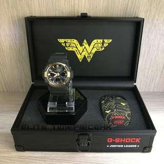"""全新現貨 Casio G shock X DC 電影正義聯盟系列 D.C. Comics """"Justice League"""" GAW-100G Wonder Woman 神奇女俠 限量套裝紀念版連英雄藍牙滑鼠"""