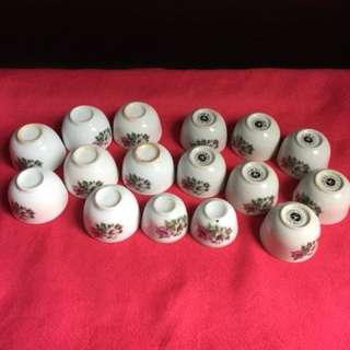Porcelain teacups x 16