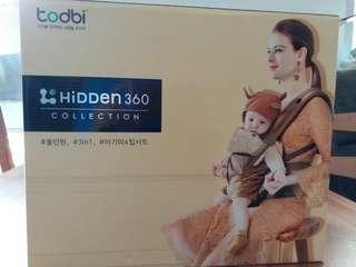 韓國 Todbi Hidden 360 三合一氣囊坐墊式揹帶 hip seat