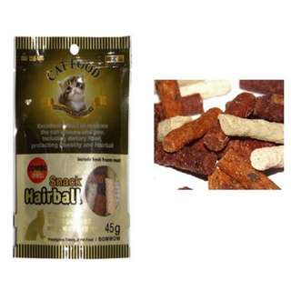 Bow Wow Hairball Combo Fish Cat Snack 45g, 2packs