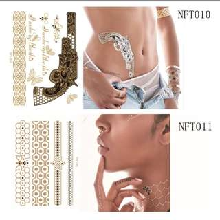 3D Metallic Temporary Tattoos