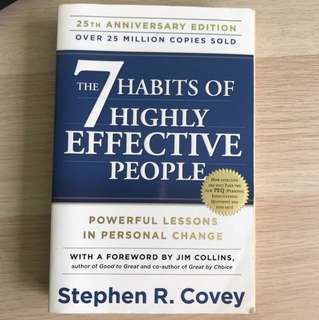 The 7 Habits of Highly Effective People be Stephen R Covey