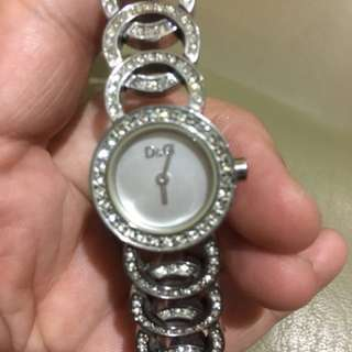 D&G Stone-studded Watch