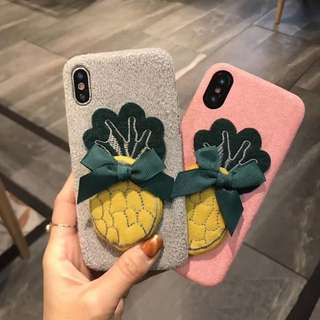 Casing Handphone - Winter Pineapple HandMade Soft TPU