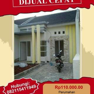 Dijual Rumah tipe 40 m2 luas tanah 90 m2