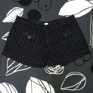 Black Stippes Shorts