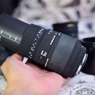 Sigma DG 70-300 macro for Nikon