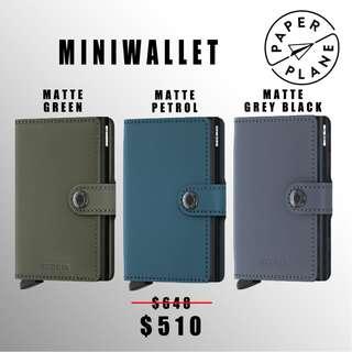 荷蘭SECRID 智能防盜Miniwallet真皮銀包 - 啞面綠/灰黑/藍 Matte Green/ Grey-black/ Petrol(黑鋁)