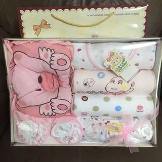 Baby Girl Gift Set with Pillow