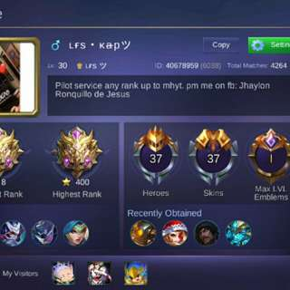 Selling account mobile legends android