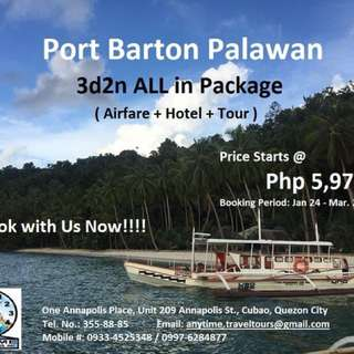 Port Barton Palawan All in Package