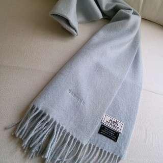 (厚而軟滑!)100%Cashmere Hermes Vintage Scarf
