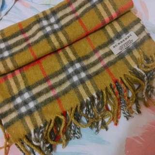 Burberry 100% cashmere 長頸巾